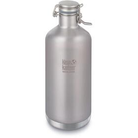 Klean Kanteen Growler Vacuum Insulated Bottle Swing Lok Cap 1900ml Brushed Stainless